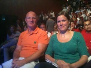 MDG talsperson Hanna Marcussen og meg, klar for debatt!
