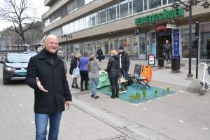 Bærum MDG aksjon i 2012 mot åpningen av gågaten i Sandvika